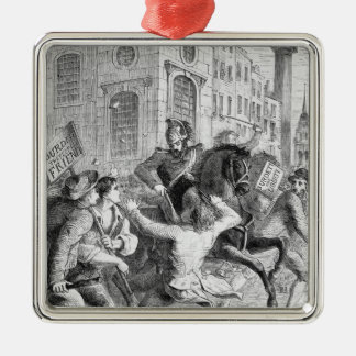 Burdett Riot, 1810 Christmas Ornament
