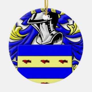 Burdette Coat of Arms Round Ceramic Decoration