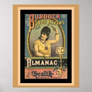 Burdock Blood Bitters Vintage Ad Poster