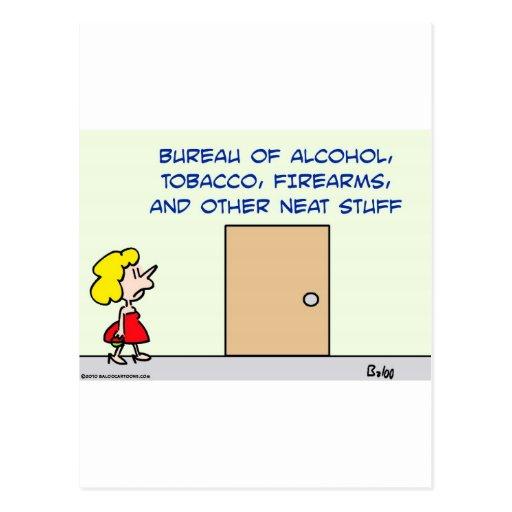 bureau alcohol tobacco firearms neat stuff post cards