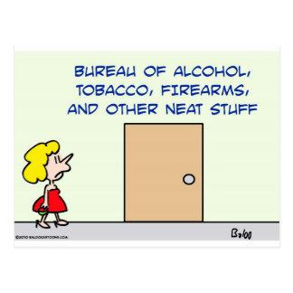 bureau alcohol tobacco firearms neat stuff postcard