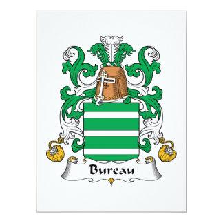 Bureau Family Crest 17 Cm X 22 Cm Invitation Card