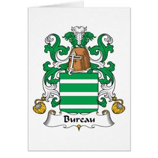 Bureau Family Crest Greeting Card
