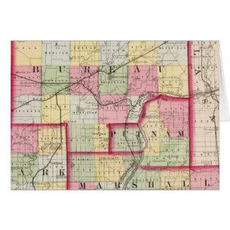 Bureau, Putnam, Stark, Marshall counties Greeting Card