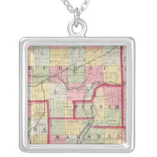 Bureau, Putnam, Stark, Marshall counties Silver Plated Necklace