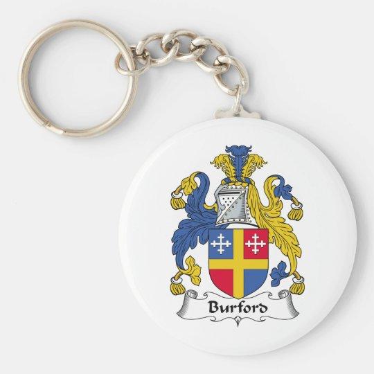 Burford Family Crest Basic Round Button Key Ring