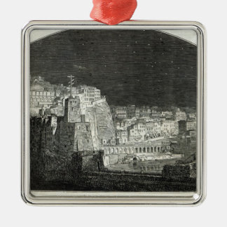 Burford's New Panorama of Naples by Moonlight Christmas Ornament
