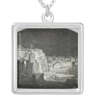 Burford's New Panorama of Naples by Moonlight Silver Plated Necklace