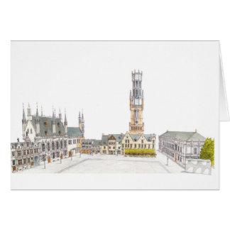Burg Square. Bruges Belgium. Card