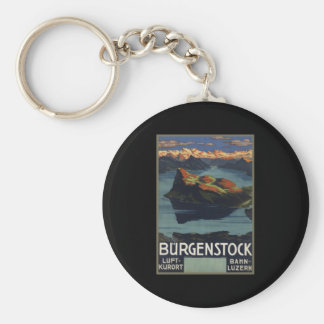 Burgenstock Basic Round Button Key Ring