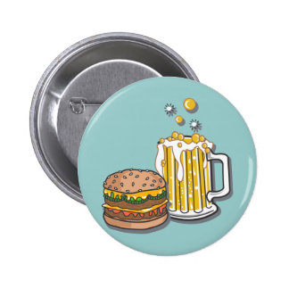 Burger and a Brew 6 Cm Round Badge