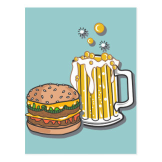 Burger and a Brew Postcard