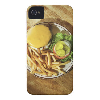 Burger and french fries iPhone 4 cases