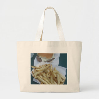 Burger and Fries Tote Bags