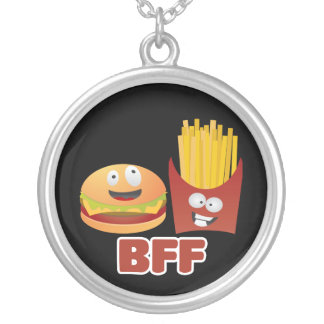 Burger And Fries Best Friends Forever Pendant