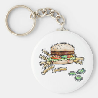 BURGER and FRIES KEYCHAIN