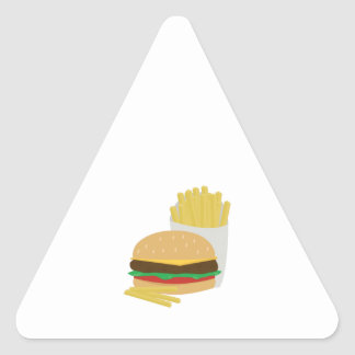 Burger and Fries Triangle Stickers