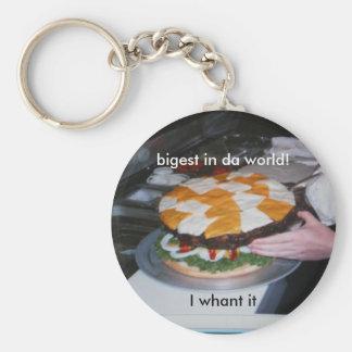burger basic round button key ring
