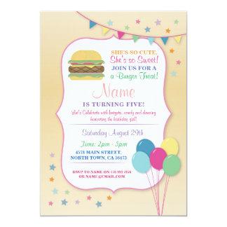 Burger Birthday Party Any Age Birthday Invite