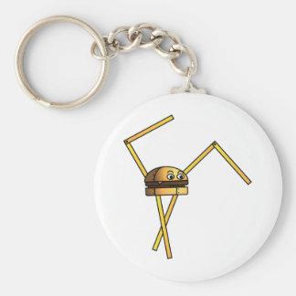 Burger Bot Basic Round Button Key Ring