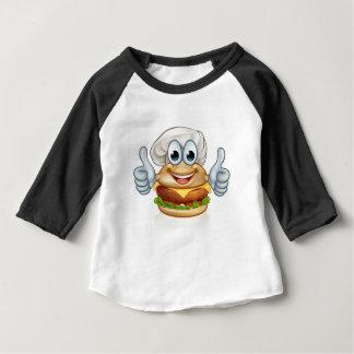Burger Chef Food Cartoon Character Mascot Baby T-Shirt
