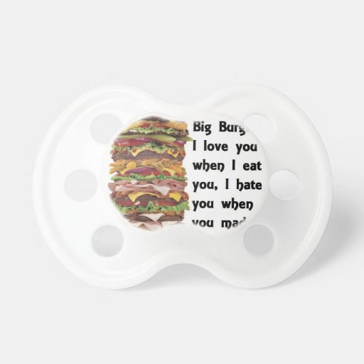 Burger Collection Baby Pacifiers