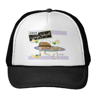 Burger - Edna the lunch lady Mesh Hat