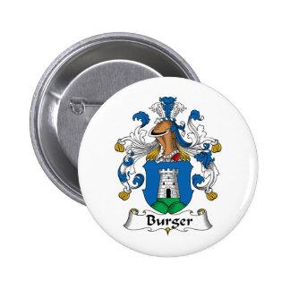 Burger Family Crest 6 Cm Round Badge