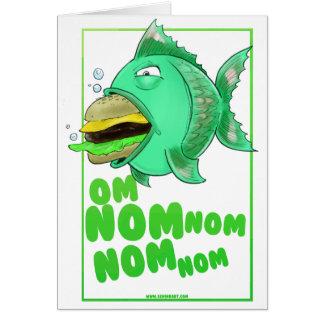 Burger Fish Card Folded