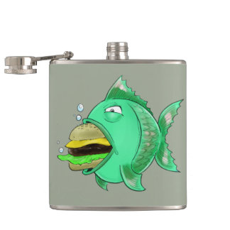 Burger Fish Flask