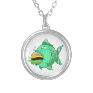 Burger Fish Necklace