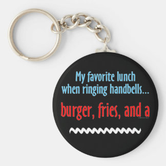 Burger, Fries and a Shake Basic Round Button Key Ring