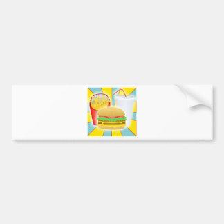 Burger Fries And Drink Bumper Sticker