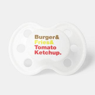 Burger & Fries & Tomato Ketchup. Dummy