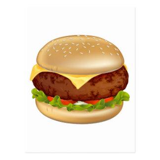 Burger illustration postcard