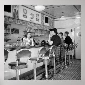 Burger Joint 1941 Print