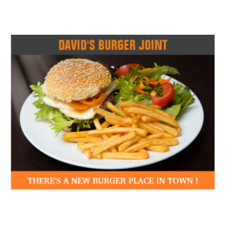 Burger Joint Opening | Now Open | Direct Mail Postcard