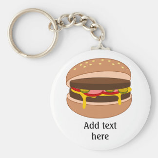 Burger Lover - Personalize this Graphic Key Ring