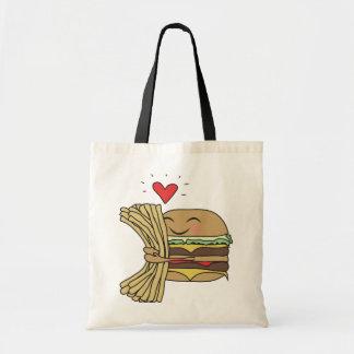 Burger Loves Fries Budget Tote Bag