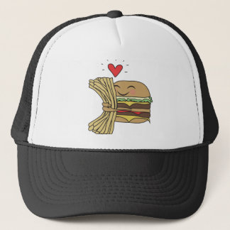 Burger Loves Fries Trucker Hat