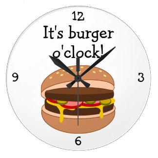 Burger O'Clock fun food graphic Clocks