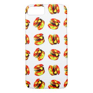 Burger Pattern iPhone 7 Case