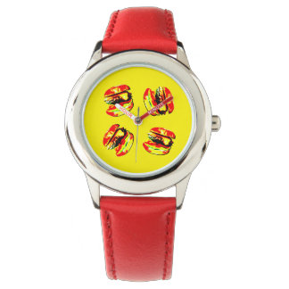 Burger Pattern Watch