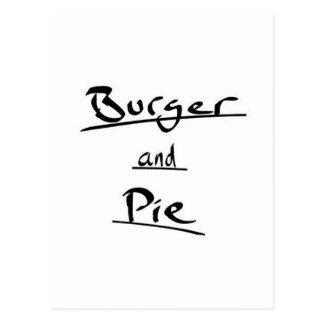 Burger Postcard