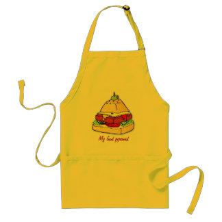 Burger pyramid apron