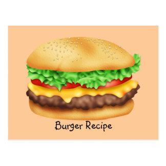 Burger Recipe Card