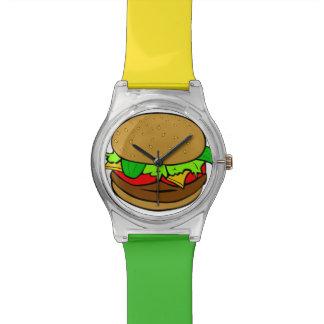 Burger Time Red Green & Yellow Hamburger Watch