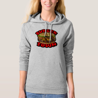 Burger Town - Ladies Hooded Pullover