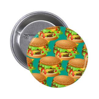 Burger Wallpaper 6 Cm Round Badge