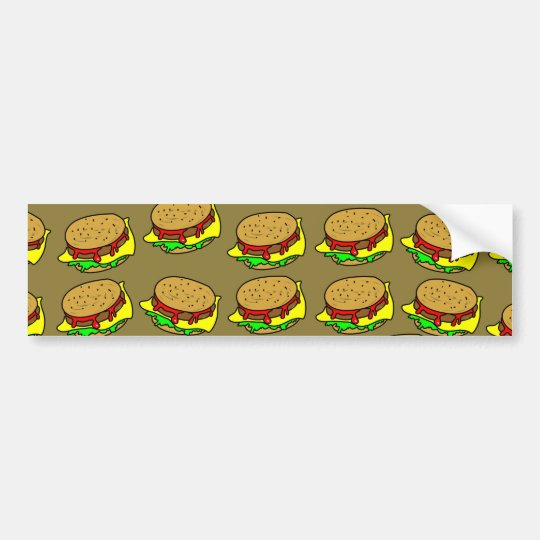 Burger Wallpaper Bumper Sticker